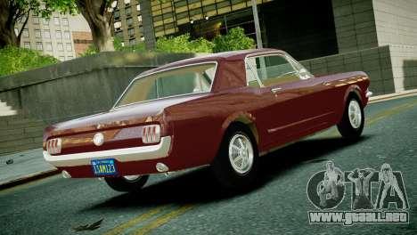 Ford Mustang 1965 para GTA 4 left