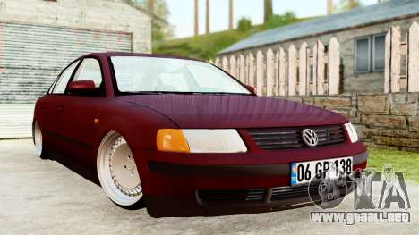 Volkswagen Passat B5 1.8 ADR para GTA San Andreas vista posterior izquierda