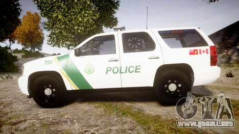 Chevrolet Tahoe Niagara Falls Parks Police [ELS] para GTA 4 left
