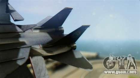 F-14D Super Tomcat Halloween Pumpkin para GTA San Andreas vista posterior izquierda