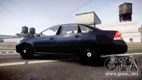 Chevrolet Impala Unmarked Police [ELS] ntw para GTA 4 left
