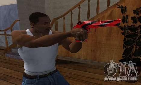 Black Lines Deagle para GTA San Andreas segunda pantalla