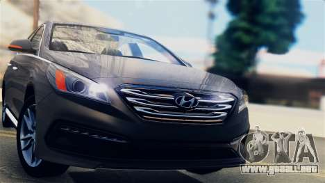 Hyundai Sonata 2015 para GTA San Andreas vista posterior izquierda