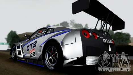 Nissan GT-R (R35) GT3 2012 PJ3 para la visión correcta GTA San Andreas