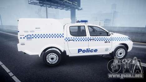 Toyota Hilux NSWPF [ELS] para GTA 4 left
