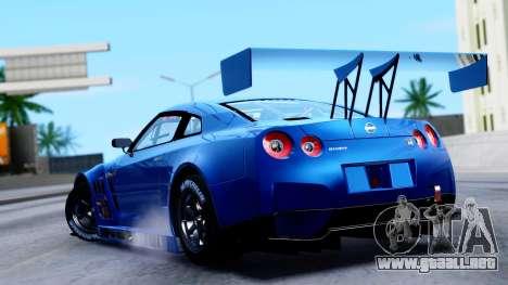 Nissan GT-R (R35) GT3 2012 PJ2 para GTA San Andreas left