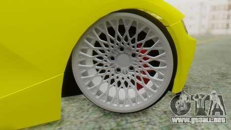BMW Z4 Construcción de la Ens para GTA San Andreas vista posterior izquierda