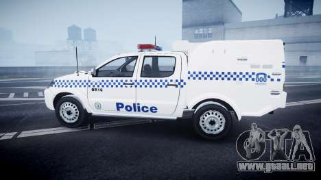 Toyota Hilux NSWPF [ELS] scoop para GTA 4 left