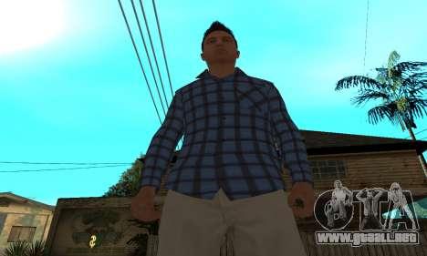 Skin Claude [HD] para GTA San Andreas sucesivamente de pantalla