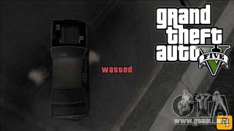 GTA V Wasted and Busted Sound [CLEO] para GTA San Andreas