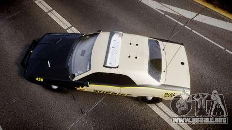 Dodge Challenger MCSO [ELS] para GTA 4 visión correcta