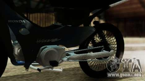 Honda Wave Stunt para GTA San Andreas vista hacia atrás
