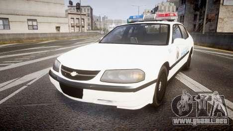 Chevrolet Impala Metropolitan Police [ELS] Pat para GTA 4