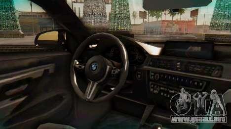 BMW M4 2015 IVF para la visión correcta GTA San Andreas