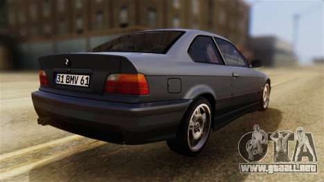 BMW 320i para GTA San Andreas left
