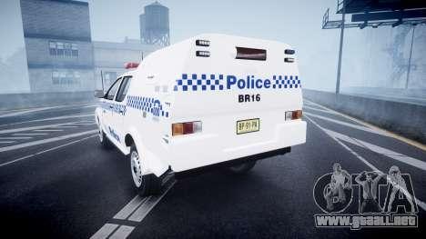 Toyota Hilux NSWPF [ELS] para GTA 4 Vista posterior izquierda