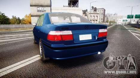 Mazda 626 para GTA 4 Vista posterior izquierda
