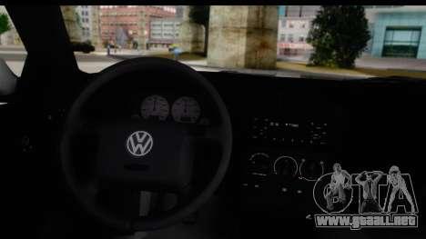 Volkswagen Golf 3 Stanced para la visión correcta GTA San Andreas