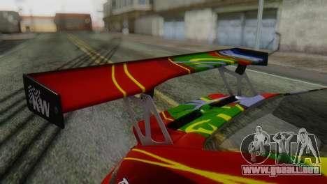 Porsche 911 GT3-RSR para GTA San Andreas vista hacia atrás