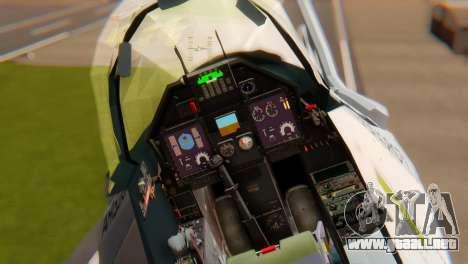 Embraer A-1 AMX FAB para GTA San Andreas vista hacia atrás