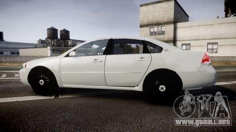 Chevrolet Impala Unmarked Police [ELS] tw para GTA 4 left