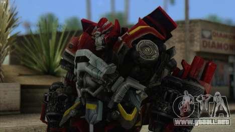 Ironhide Skin from Transformers v1 para GTA San Andreas