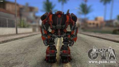Autobot Titan Skin from Transformers para GTA San Andreas segunda pantalla