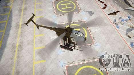 AH-6 Little Bird para GTA 4 Vista posterior izquierda