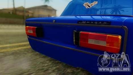 VAZ 2106 Chameleon para GTA San Andreas vista hacia atrás