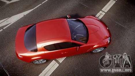 Mazda RX-8 2006 v3.2 Advan tires para GTA 4 visión correcta