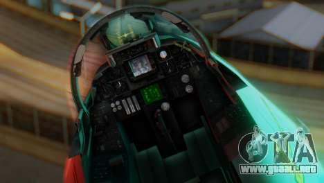 F-14A Tomcat Marynarka Wojenna RP para GTA San Andreas vista hacia atrás