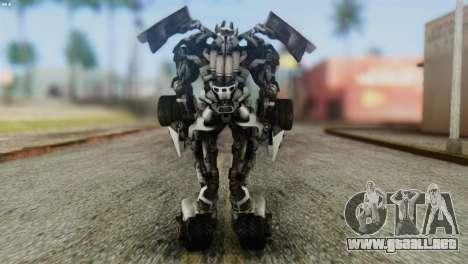 Sideswipe Skin from Transformers v2 para GTA San Andreas tercera pantalla