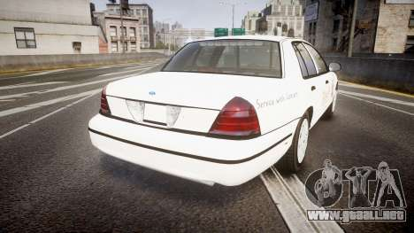 Ford Crown Victoria Sacramento Sheriff [ELS] para GTA 4 Vista posterior izquierda