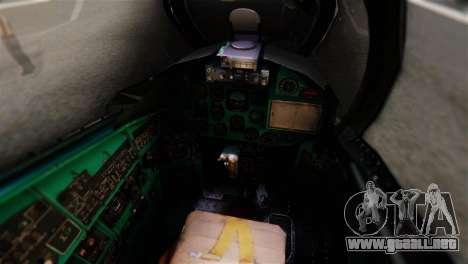 Mil Mi-24V Czech Air Force Tigermeet para GTA San Andreas vista hacia atrás