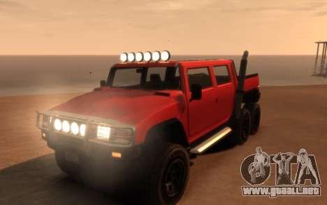 Mammoth Patriot 6x6 para GTA 4 vista lateral