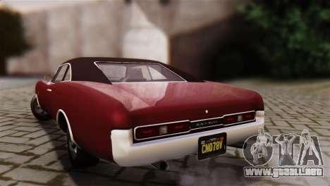 GTA 5 Imponte Dukes IVF para GTA San Andreas left