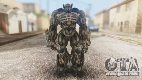 Shockwave Skin from Transformers v1 para GTA San Andreas segunda pantalla