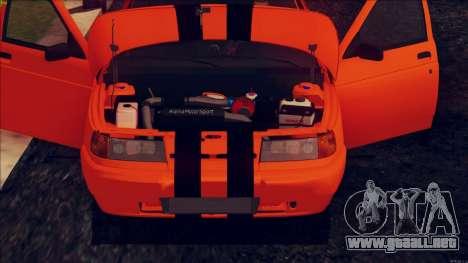 VAZ 2112 Turbo para GTA San Andreas vista hacia atrás