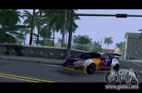 Toyota GT86 Red Bull para visión interna GTA San Andreas