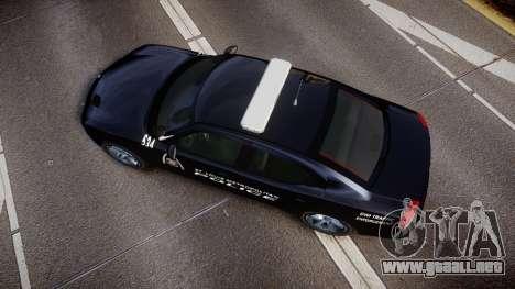 Dodge Charger Metropolitan Police [ELS] para GTA 4 visión correcta