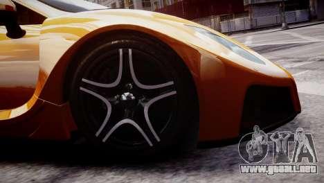 GTA Spano 2013 para GTA 4 vista hacia atrás