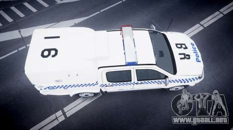 Toyota Hilux NSWPF [ELS] scoop para GTA 4 visión correcta