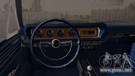 Pontiac GTO Black Rock Shooter para la visión correcta GTA San Andreas