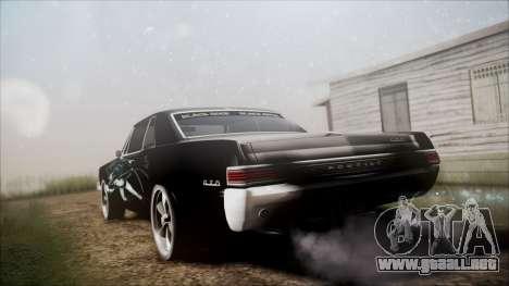 Pontiac GTO Black Rock Shooter para GTA San Andreas left