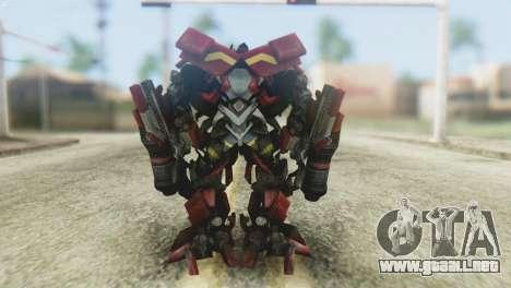 Ironhide Skin from Transformers v1 para GTA San Andreas tercera pantalla