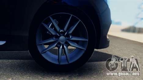 Hyundai Sonata 2015 para GTA San Andreas vista hacia atrás