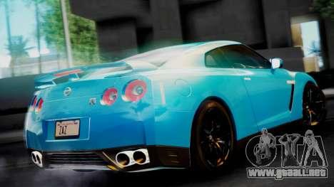 Nissan GT-R 2015 para GTA San Andreas vista posterior izquierda