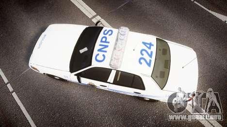 Ford Crown Victoria CNPS [ELS] para GTA 4 visión correcta