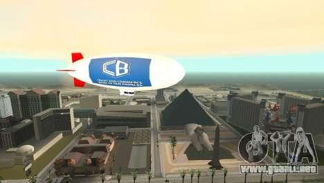 La publicidad de los dirigibles para GTA San Andreas sucesivamente de pantalla