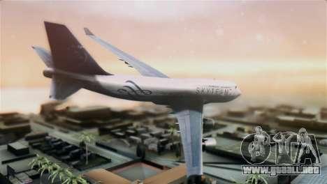 Boeing 747-400 Garuda Indonesia Sky Team para GTA San Andreas left